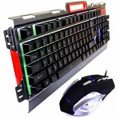 Imagem de Kit Teclado E Mouse Gamer Semi Mecânico Led  Bk-g3000 Bk-g3000 Exbom