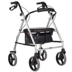 Imagem de Andador Para Idoso Com Rodas Assento E Cesto Bc1555 Mercur