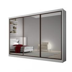 Guarda-Roupa Casal 3 Portas 8 Gavetas com Espelho Grand Siena Móveis