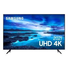 "Smart TV LED 55"" Samsung Crystal 4K HDR UN55AU7700GXZD"