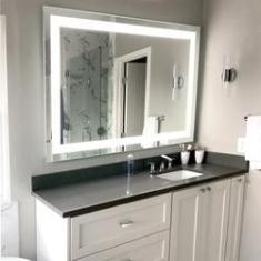 Imagem de Espelho com LED 85x75cm para Maquiagem Decoração e Salão de Beleza