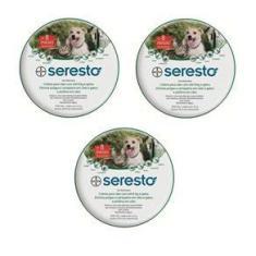 Imagem de Combo 3 Coleiras Anti Pulgas Seresto Bayer Para Até 8 Kg