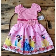 Imagem de Vestido Infantil Temático Princesas