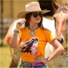 Imagem de T-Shirt Feminina Power Country Laranja Tambor