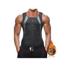 Imagem de Colete Neoprene Modelador Corretor Postura Masculino - G