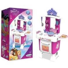 Imagem de Cozinha Infantil Criança Princesas Disney A partir dos 3 Anos Com acessórios e Adesivos Xalingo
