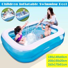Imagem de Grande piscina inflável de 180/200/262 cm Crianças Adultos Banheira Uso doméstico para bebês Piscina quadrada para crianças
