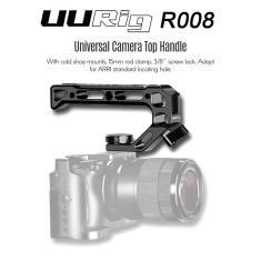 Imagem de UURig R008 Universal Camera Top Handle Pega com Sapata Fria Mounts 15 milímetros Rod braçadeira 3/8 polegadas parafuso de bloqueio Adote para arri Padrão furo para Microfone Luzes Monitor para Camera Rig gaiola