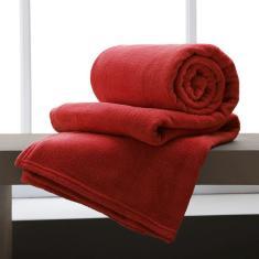 Imagem de Cobertor / Manta De Microfibra Solteiro - Andreza Vinho