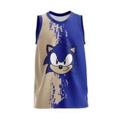 Imagem de Regata Infantil Sonic Bege e  RG