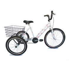 Bicicleta Triciclo Valdo Bike Aro 26 Freio V-Brake Floral