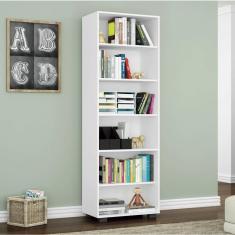 Imagem de Estante Para Livros 5 Prateleiras Office Móveis Leão  Texturizado