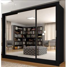 Imagem de Guarda-Roupa Casal 3 Portas 4 Gavetas com Espelho Paloma 3E At.Home