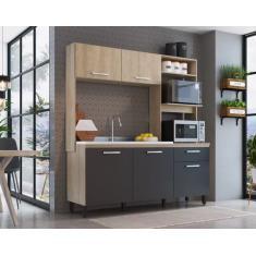 Imagem de Cozinha Compacta 1 Gaveta 5 Portas sem Tampo Gabriela GA1800 Delmarco