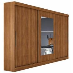Guarda-Roupa Casal 3 Portas 4 Gavetas com Espelho Montebello Móveis Lopas