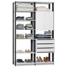 Imagem de Guarda-Roupa Closet 3 Gavetas 9011 Clothes Be Mobiliário