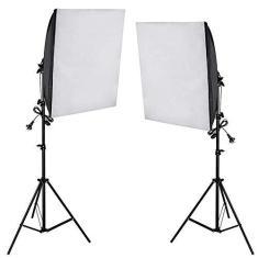 Imagem de Kit Iluminação Estúdio 02 Softbox E27 50x70cm com Tripé