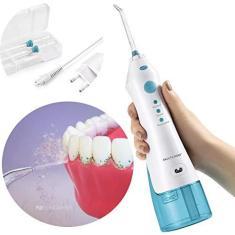 Imagem de Irrigador Oral Bucal Portatil Recarregavel Limpa Dente 2 Bicos 360 Eletrico Bivolt (HC036)