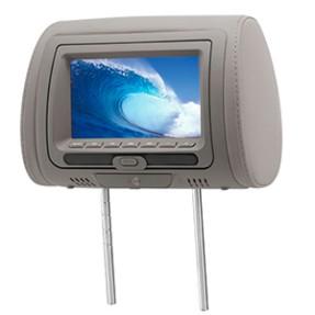 """Encosto de Cabeça com DVD KX3 7 """" DVD728 USB"""