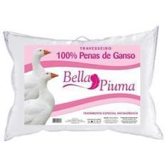 Imagem de Travesseiro 100% Penas de Ganso 5001BP 50x70 Bella Piuma C/ Tratamento Especial Antialérgico - Daune -
