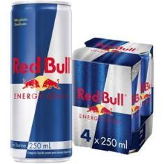 Imagem de Energético Red Bull Energy Drink Pack com 4 Latas de 250ml