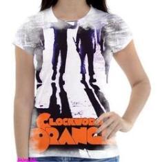 Imagem de Camiseta Camisa Feminina Orange Laranja Mecanica