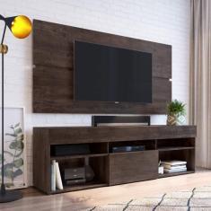 Imagem de Rack Com Painel Para Tv Até 65 Polegadas E 1 Porta Espresso Móveis Cacau