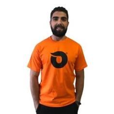 Imagem de Camiseta Lobo Onda Laranja C036