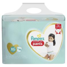 Fralda Pampers Premium Care Pants Tamanho XG 96 Unidades Peso Indicado 11 - 15kg