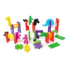 Imagem de Brinquedo Big Block Estrela Blocos De Montar Encaixe 40pçs