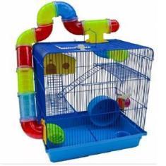 Imagem de Gaiola Hamster Labirinto 3 Andares Com Tubos