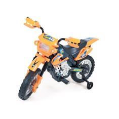 Imagem de Moto Elétrica Motocross Laranja 6v Homeplay