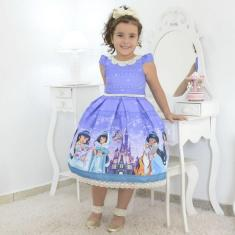 Imagem de Vestido Infantil Tema Princesa Jasmine - Aladdin