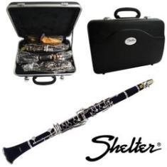 Clarinete Sib 17 Chaves c/ Estojo SFT6402E - Shelter