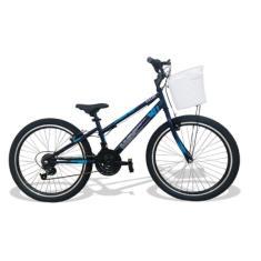 Bicicleta Caloi Lazer 21 Marchas Aro 24 Max com Cesta