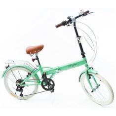 Bicicleta Echo Vintage Dobrável 6 Marchas Aro 20 Fenix