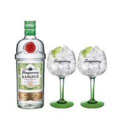 Imagem de Combo Gin Tanqueray Rangpur 750ml + 2 Taças Tanqueray Importadas
