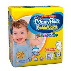Fralda MamyPoko Fralda-Calça Tamanho XG 14 Unidades Peso Indicado 12 - 17kg