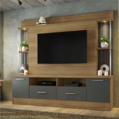 Imagem de Estante Home para TV até 65 polegadas 2 Gavetas 2 Portas Afeto JCM Móveis Noronha/Grafite