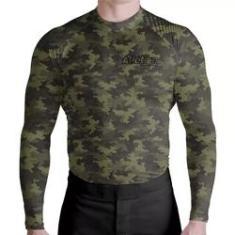 Imagem de Camisa Moto Térmica Prot Uv Camuflada Verde ATL