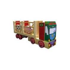 Imagem de Caminhão Fazendinha-Brinquedo Educativo Madeira-Carimbras
