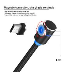 Starplat 90 Grau Magnético Ângulo Cabo Micro USB Trançado Cabo de Dados para Samsung/Sony/Xiaomi
