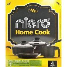 Imagem de Jogo De Panelas Antiaderente Nigro Home Cook 5 Peças Teflon