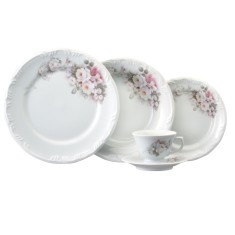 Aparelho de Jantar Redondo de Porcelana 30 peças - Eterna Schmidt