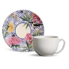 Imagem de Conjunto 6 Xícaras De Chá Com Pires Garden
