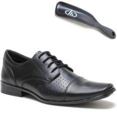 Imagem de Sapato Social DED Calçados Couro Legitimo Com Cadarço Masculino