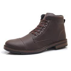 Imagem de Bota Coturno Ec Shoes Cano Curto Com Solado de Borracha