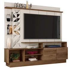 Imagem de Estante Home Theater para TV até 65 Polegadas Sala de Estar Vivaz Canela/Off White - Frade Movelaria