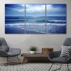 Imagem de Quadro 75x150cm Praia Porto De Galinhas Pernambuco Ondas Decorativo Interiores