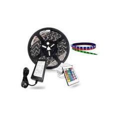 Fita Led Rgb 5050 5m 16 Cores Prova D'água+fonte+controle